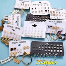 Heart, Tassels, Hoop Earring, Jewelry