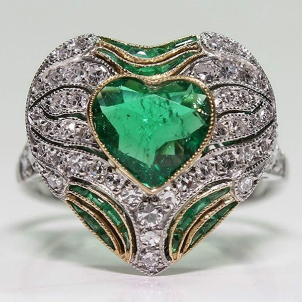 emeraldring, Heart, Fashion, lover gifts