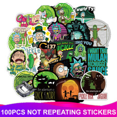 cartoongraffiti, morty, Waterproof, Stickers
