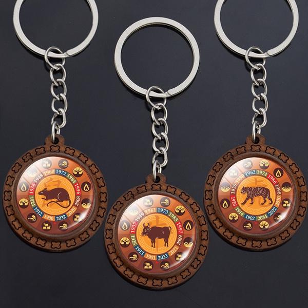 2020newyeargift, Tiger, Key Chain, Jewelry