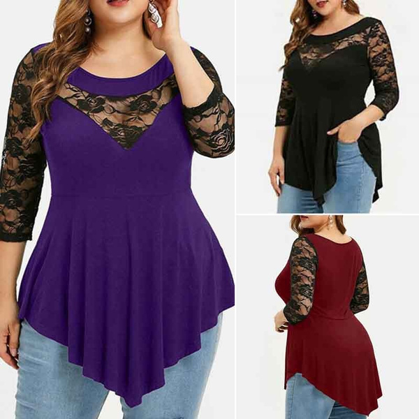 blouse, Fashion, asymmetricalhemtop, Shirt
