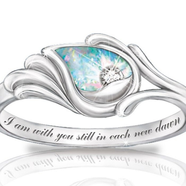 angelwing, letterring925ring, letterring, Jewelry