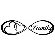 Car Sticker, Love, Family, 3dwallsticker