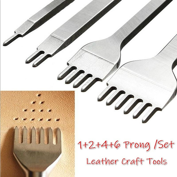 3//4//5//6mm Leather Craft Tools Hole Punches Stitching Punch Tool 1+2+4+6  Prong#