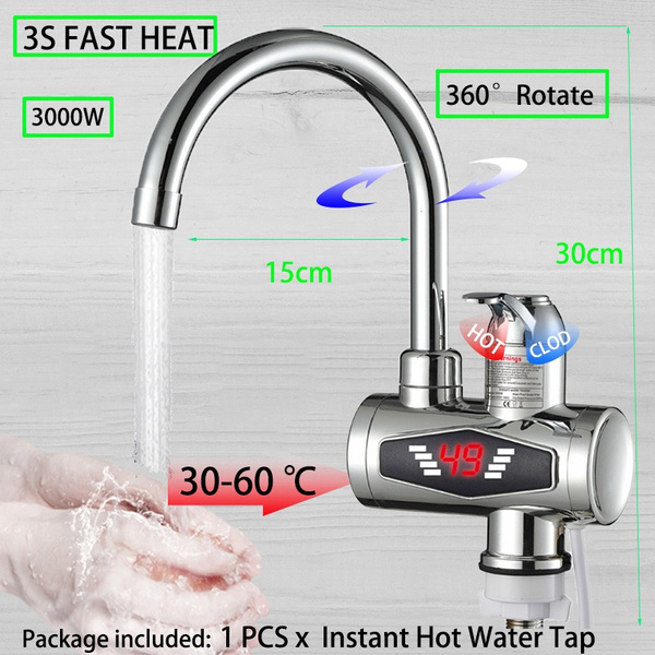 Bathroom, heatingfaucet, tap, Electric