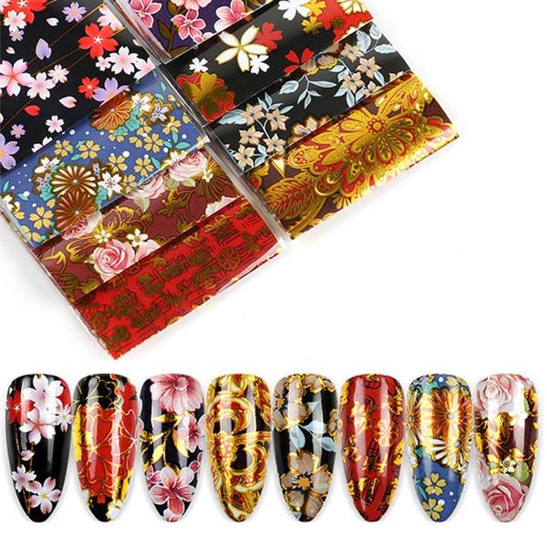 newdesignonfinger, nail decals, Flowers, art