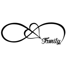 Car Sticker, Infinity, Family, Stickers & Decals