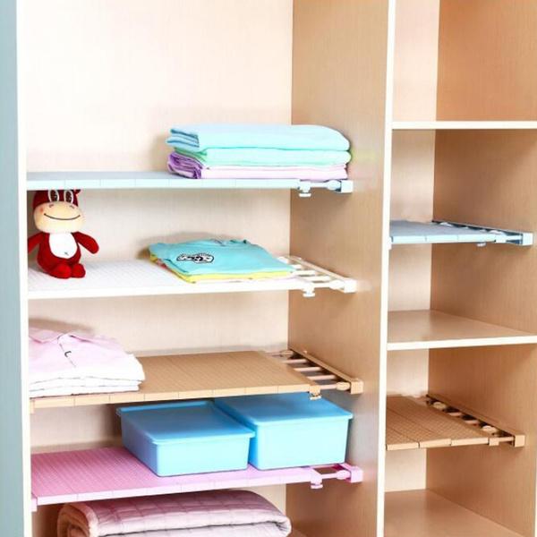 Expandable Shelf Closet Organizer Storage Adjustable Rack Rod Home Supplies