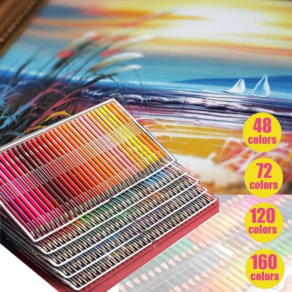 160colorsoilcoloredpencil, art, Drawing & Painting Supplies, oilcoloredpencilset