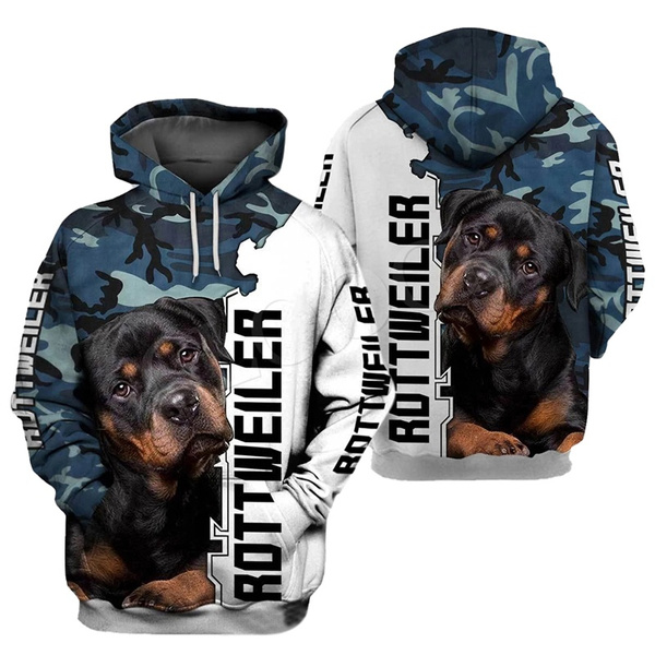 rottweiler, hooded, Animal, 3D hoodies