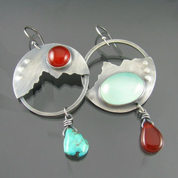 Sterling, Turquoise, Fashion, Moonstone