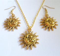 sunandmoon, celestialjewelry, Jewelry, sunandmoonnecklace