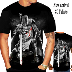 knightstemplar, 3dmentshirt, personalitytshirt, Casual T-Shirt