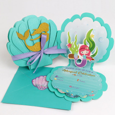 withenvelope, mermaid, Fashion, invitationcard