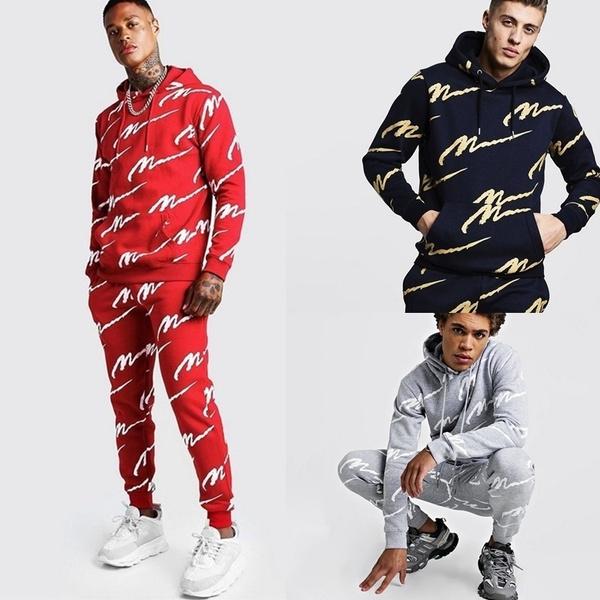 blacktracksuit, mentracksuit, Men, Fashion Suits