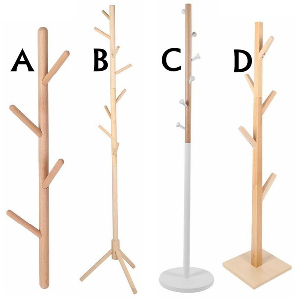 High Grade Wooden Tree Coat Rack Stand Super Easy Assembly Free Standing Coat Rack Hallway Entryway Coat Hanger Stand For Clothes Suits Accessories Wish