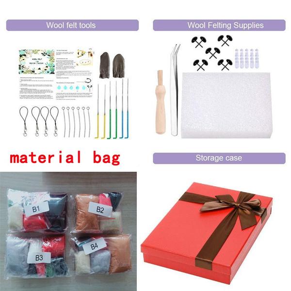 needlefeltingtool, woolroving, Starter, feltingmaterial