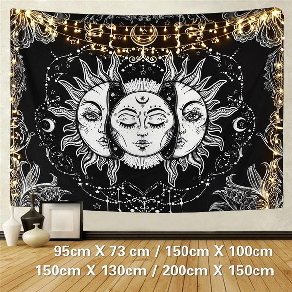 Mystic, walltapestrylarge, Wall Art, sunangmoontapestry