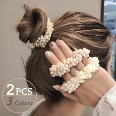 Fashion, Elastic, pearls, haircircle