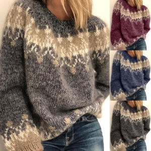 Plus Size, long sleeve sweater, Sleeve, pullover sweater