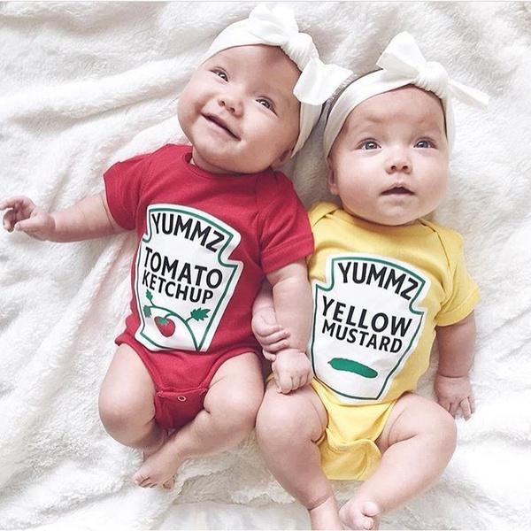 Summer, Baby Girl, babyromper, yellowmustard