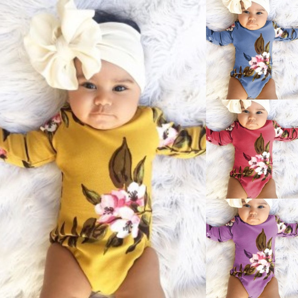 YAYAZAN Baby Infant Toddler Onesies Bodysuits Pineapple Printing Word Girls New Print Jumpsuit Playsuit Outfits