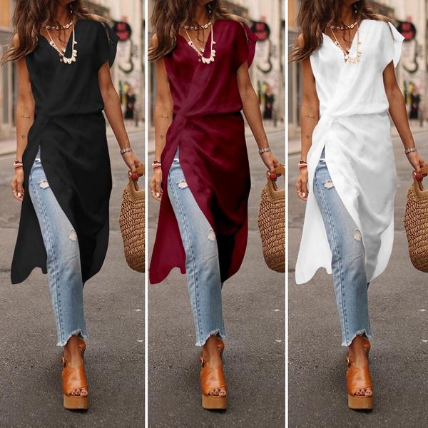 blouse, Summer, highlowblouse, asymmetric