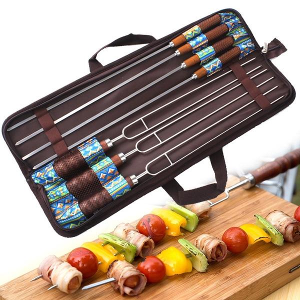 Steel, barbecuefork, bbqstick, grillingfork