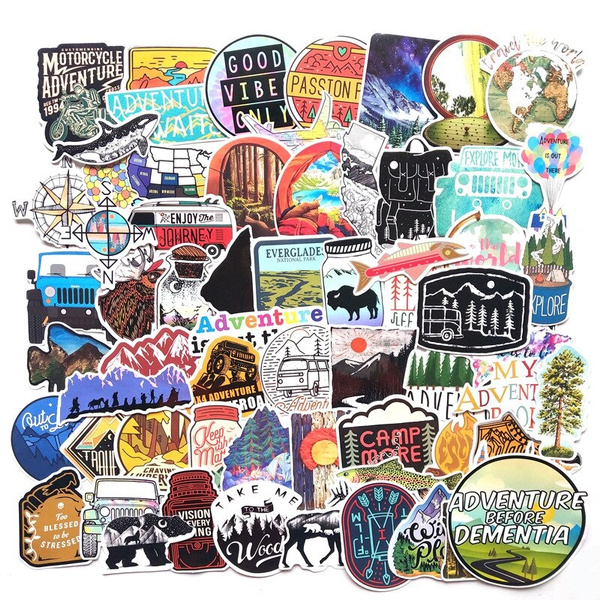 hikingsticker, luggagesticker, Bicycle, Sports & Outdoors