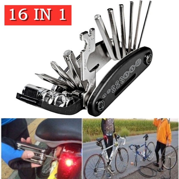 Multifunctional tool, Bicycle, repairkit, Sports & Outdoors