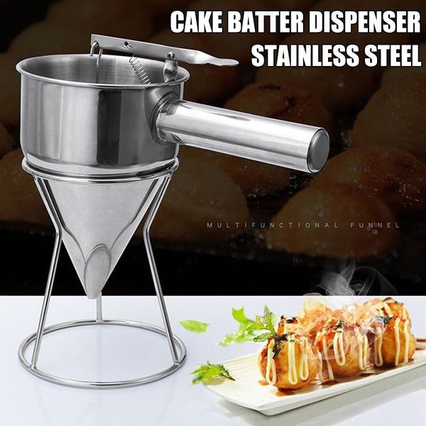 Steel, Stainless, donutcupcakebattermaker, springloadedhandle