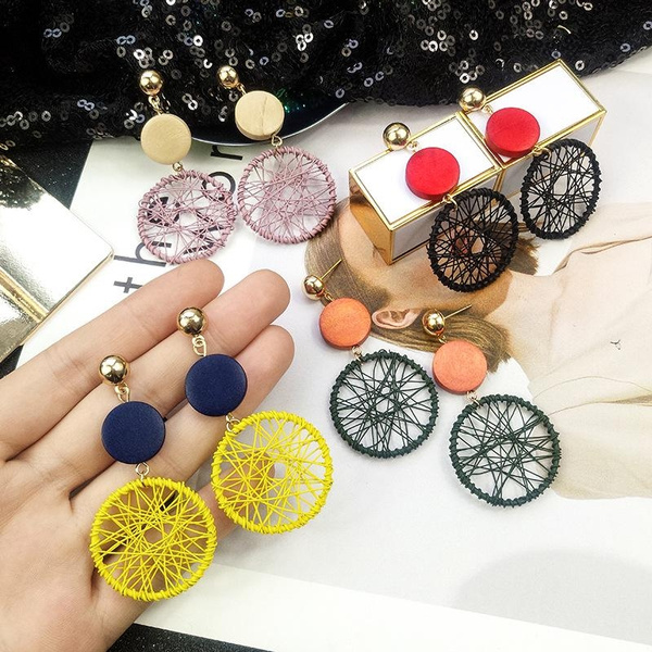 Jewelry, Earing, straw, Vintage
