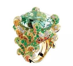 Flowers, emeraldring, Jewelry, flowerring