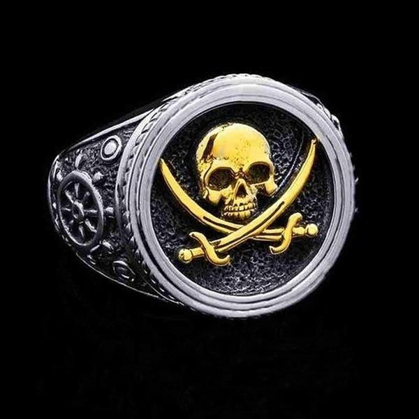Copper, Jewelry, skull, piratering