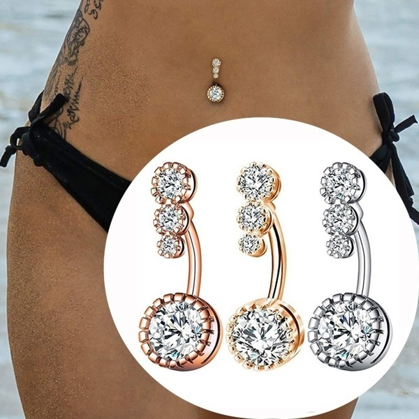 Steel, navel rings, piercingnombril, dangling