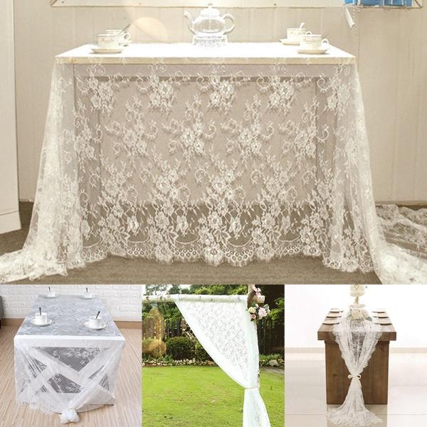 vintagelace, party, weddingpartydecor, vintagetablecloth