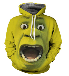 3D hoodies, Fashion, Hoodies, 3dshrek
