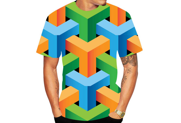 3D Abstraction Tshirt Full Print Awesome T-shirt Flowers Present For Him And Her