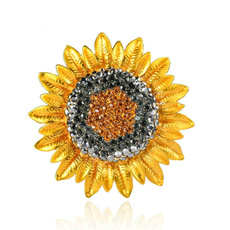 Plants, Fashion, sunflowerbrooche, Sunflowers