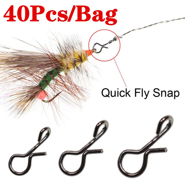 Maxcatch 50Pcs//lot Fly Fishing Snap Hook Quick Change for Flies Hook Lures