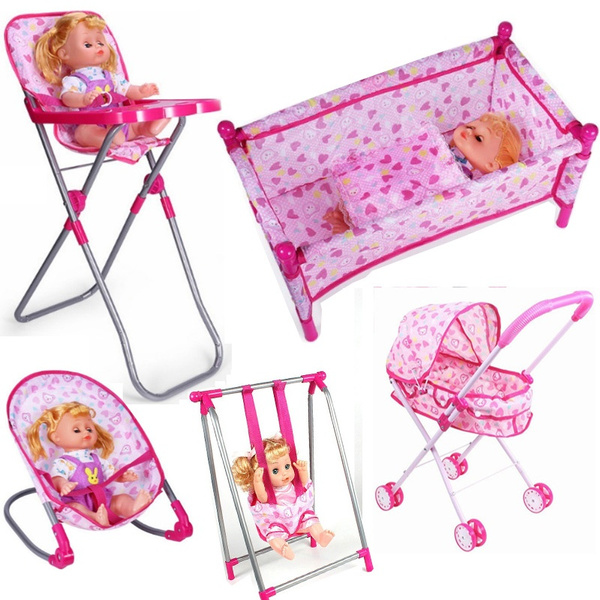 trolley, rockingchair, doll, Home & Living