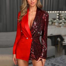 office dress, Fashion, Blazer, long sleeve dress