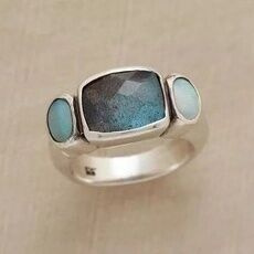Sterling, Elegant, Turquoise, Rose Gold Ring