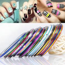 stripingtapeline, decoration, nail decals, nail tips