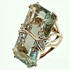 18k gold, wedding ring, Lady Fashion, fashion ring