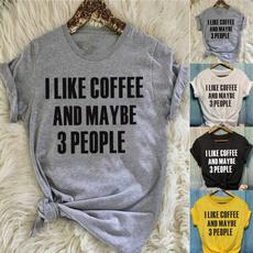 Algodón, Summer, Café, Plus Size
