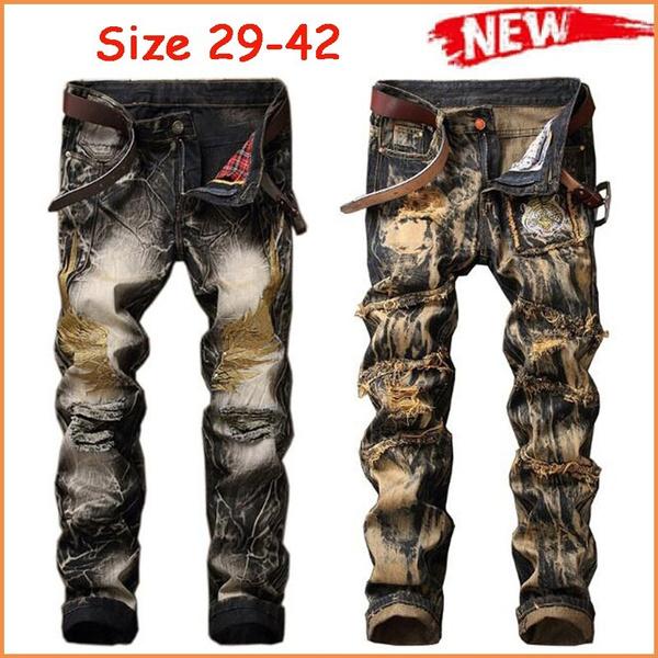 men's jeans, plus size jeans, retrojean, rippedjean