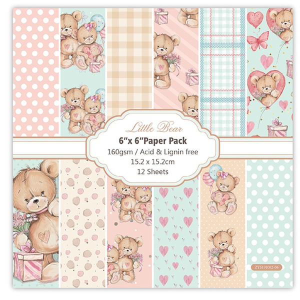 patterned, Flowers, Scrapbooking, bearpaperpack