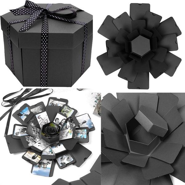 Hex Explosion Box DIY Photo Album Scrapbook Bomb Boxes Easy to Use Xmas Present