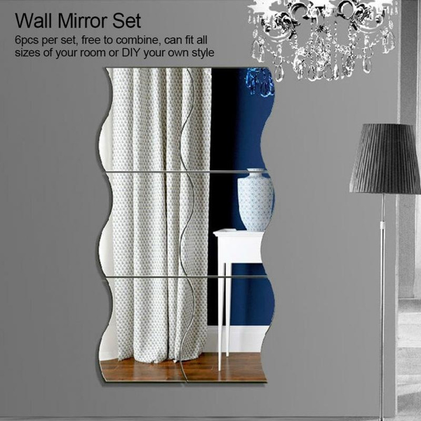 Decor, wallmirror, Home & Living, Stickers